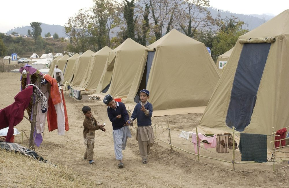 A photo of a refugee camp in Pakistan