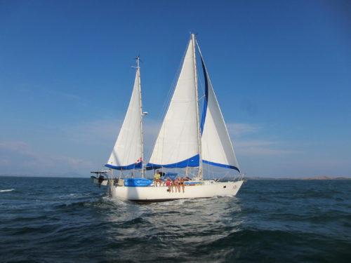 Sea-going sailboat