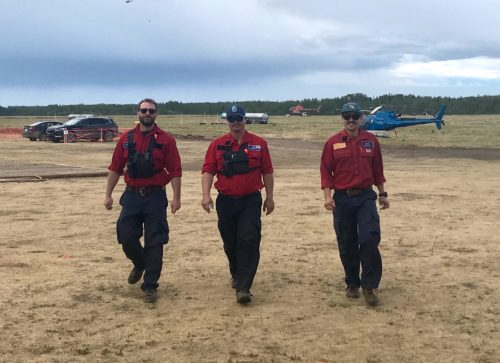 Three men in Kamloops Fire Centre uniforms