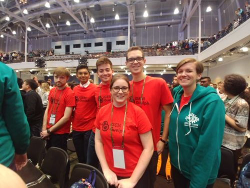 iGEM Guelph team members after winning gold