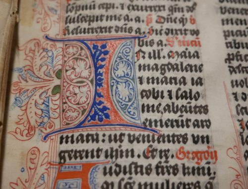 The text within one of the manuscripts