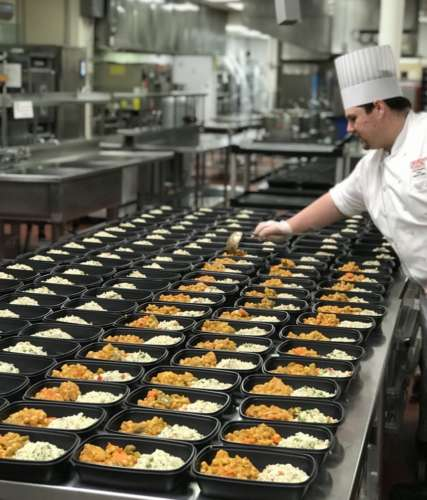 A U of G chef preparing dozens of meals