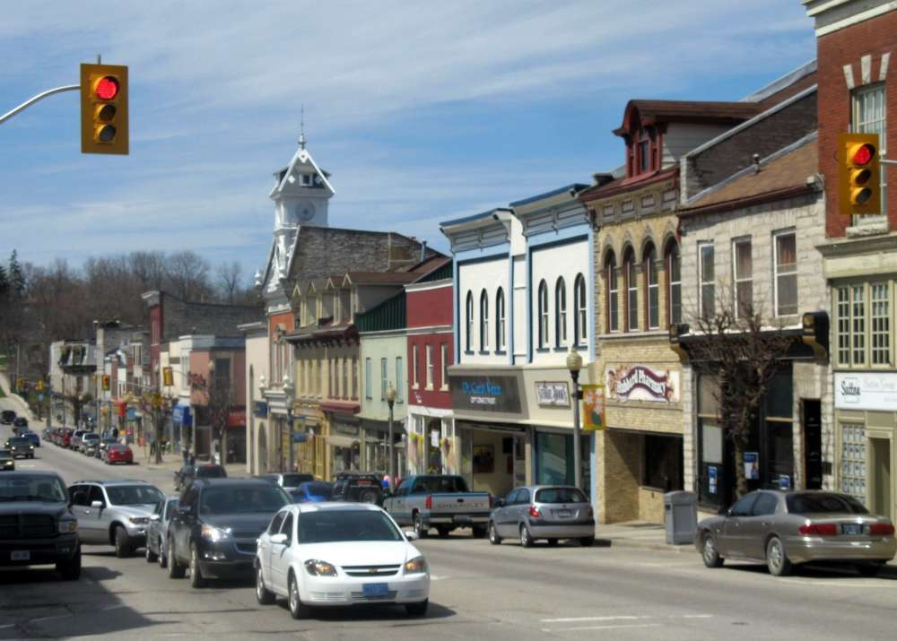 The main street of St. Mary's, Ont. is shown