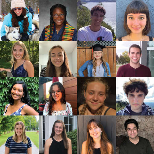Sixteen scholars are shown in this composite photo
