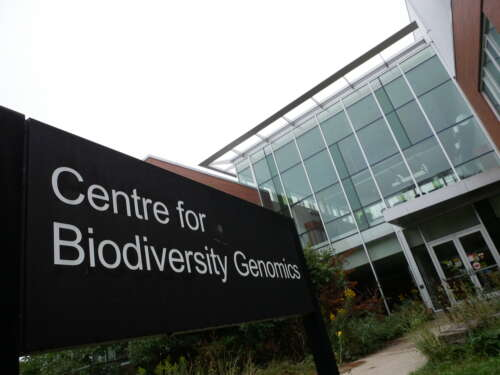Front entrance view of Centre for Biodiversity Building