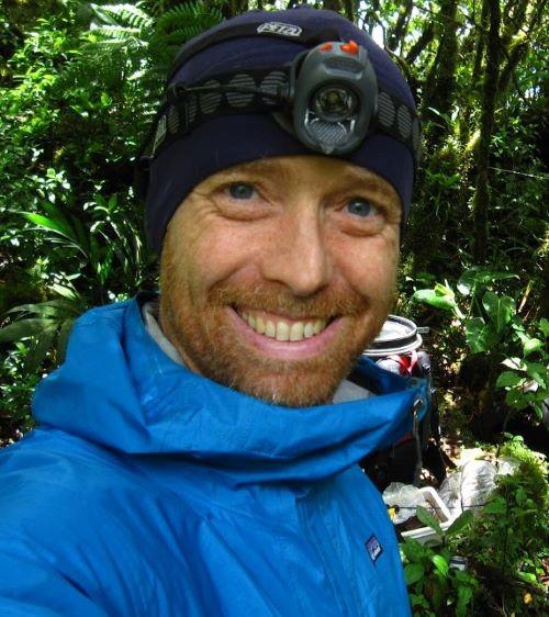 Prof. Alex Smith in a rainforest in Costa Rica