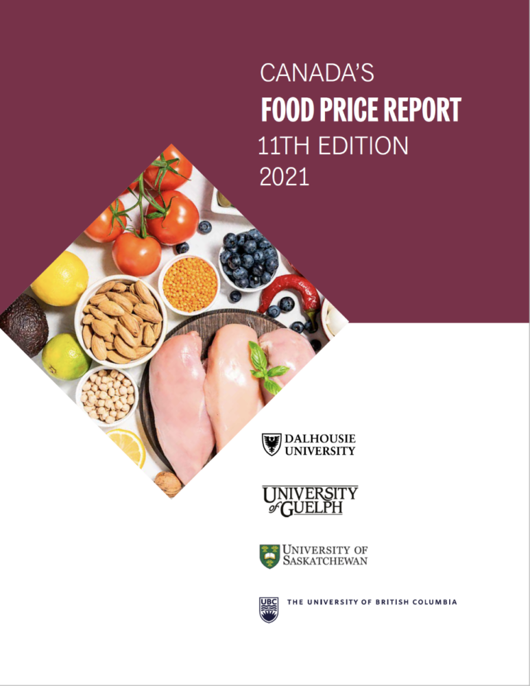 The cover of Canada's Food Price Report 2021