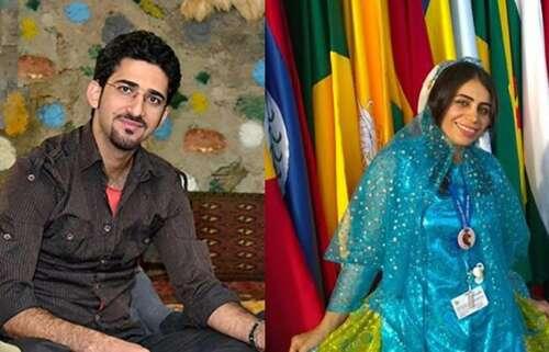 a split photo of Milad Ghasemi Ariani and Ghanimat Azhdar
