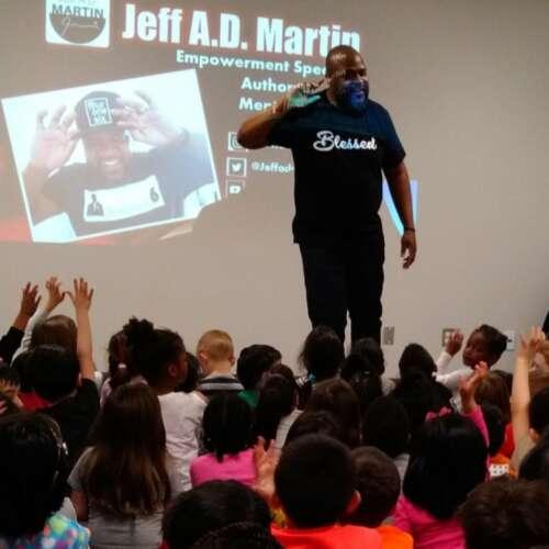 Black man gives inspiring talk to children