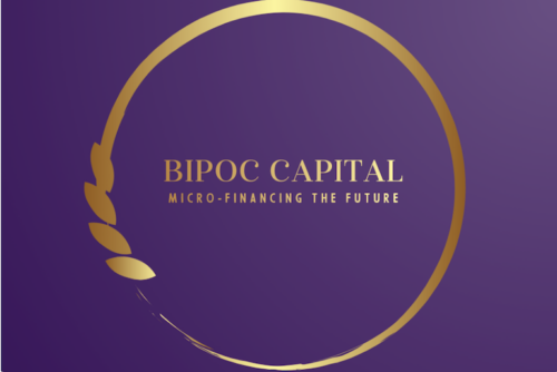 Text on logo reads BIPOC Capital Micro-Financing the Future