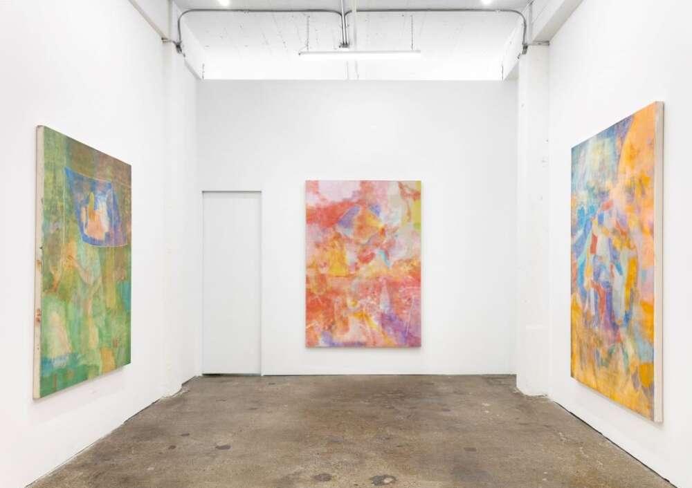 Works by AzadehElmizadeh hang in a gallery