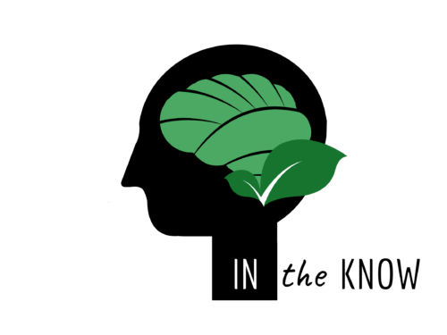 Logo with silhouette of head with symbol of healthy mind