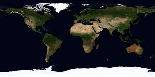 a map of the world is shown