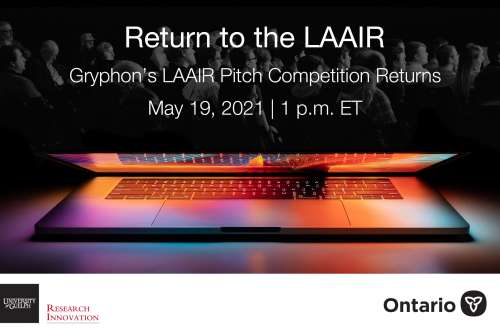 Graphic shows a laptop opening and the words Return to the LAAIR