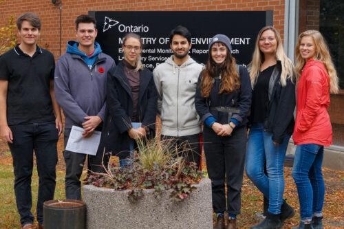 Group portrait of university research team