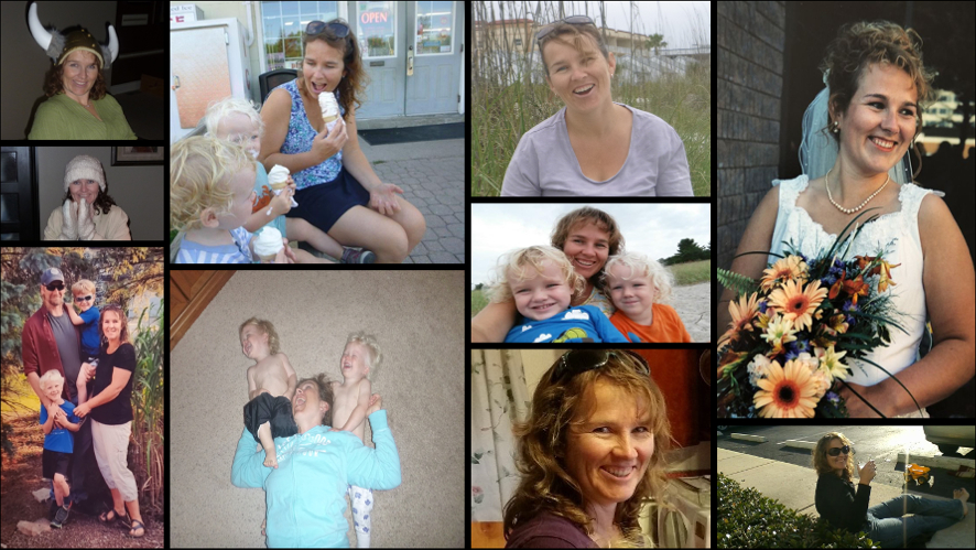 A collage of 10 images of Cindy Graham