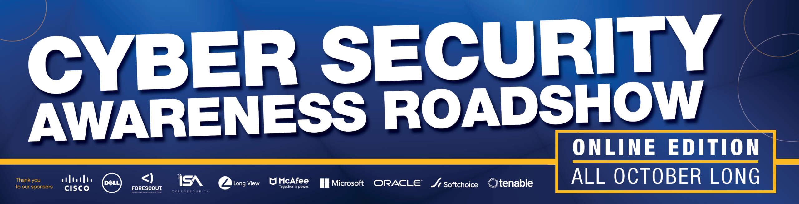 Cyber Security Awareness Roadshow - Online edition - All October long