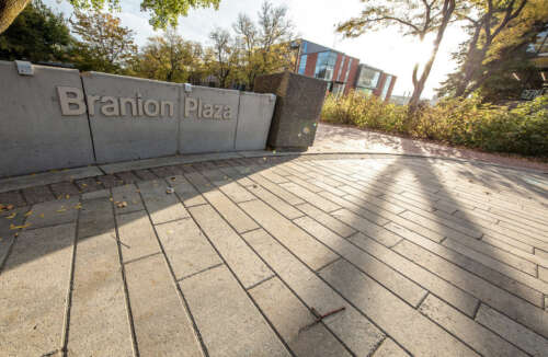 A view of Branion Plaza on the U of G campus
